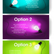 图库矢量图片: Vector banners for text with light bulb