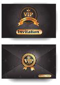 Sobre de la invitación vip con el patrón — Vector de stock