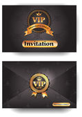 Vip uitnodiging envelop met patroon — Stockvector