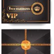 VIP invitation envelope with pattern and stamp — Stock Vector