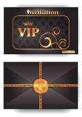 VIP envelope with pattern and stamp — Stock Vector