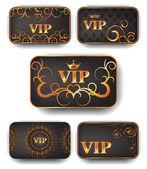 Cartões de vip ouro em vetor — Vetorial Stock