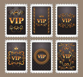 GOLD VIP STAMPS — Stock Vector