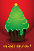 Christmas tree in the form of a cake — Stock Vector