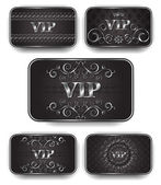 Platinum vip cards in royal style — Stock Vector