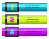 Web design numbered colorful banners — Vecteur