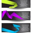 Banners with colorful origami elements — Vector de stock #12851011