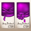 Christmas cards with ribbons — Vettoriali Stock