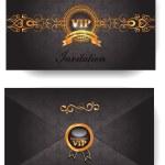 Elegant VIP invitation envelope with pattern — Stock Vector