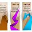 Paper banners with colorful origami elements — Stock Vector