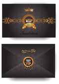 Elegant VIP invitation envelope with pattern — Stockvektor