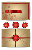 Christmas envelope with snowflakes — Stock Vector