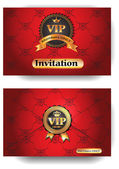 VIP red invitation envelope with pattern — Stock Vector