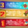 Christmas numbered banners — Stockvectorbeeld