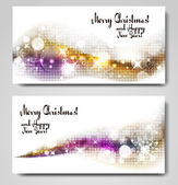 Christmas gleaming banners — Stock Vector