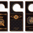 Stock Vector: Vip door tags