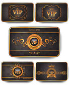 Set of Vip gold cards — 图库矢量图片