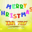 Merry Christmas furry letters with eyes — Imagen vectorial