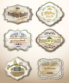 Old Labels Collection — Stock Vector