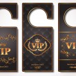vip door tags — Stock Vector