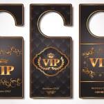 Vip door tags — Stock Vector