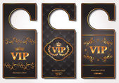 Vip door tags — Vecteur