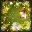 Abstract background with street lantern — Imagen vectorial