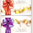 Elegant cards with silk ribbons — Stock vektor