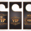 Set of  VIP gold door tags — 图库矢量图片