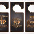 Stock Vector: Set of VIP gold door tags