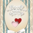 Vettoriale Stock : Vintage holiday background with hearts and place for text