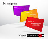 Vector template numbered colorful banners with place for text — ストックベクタ