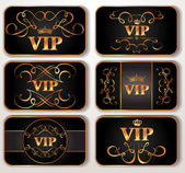 Set of vintage Vip cards — Stock Vector
