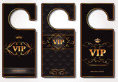 Set of VIP door tags — Stock Vector