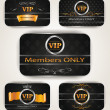 ELEGANT VIP GOLD PLATINUM CARDS — Stock Vector