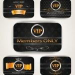 ELEGANT VIP GOLD PLATINUM CARDS — Stock Vector