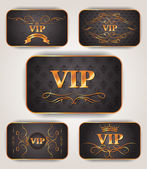 Gold VIP elegant cards — Stock Vector