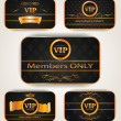 Stock Vector: ELEGANT VIP GOLD CARDS