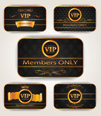 ELEGANT VIP GOLD CARDS — Stock Vector