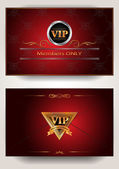 Invitation VIP red gold envelope — Stock Vector