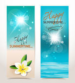 Holiday summer banners — Stock Vector