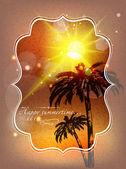 Holiday summer card — Stock Vector