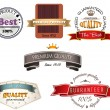 Set of vintage premium quality labels — Stock Vector #24910627