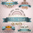 Premium quality vintage labels — Stock Vector