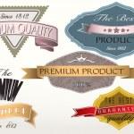 Premium quality vintage labels — Stock Vector #24911251