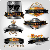 Premium quality gold and platinum vintage labels — Stock vektor