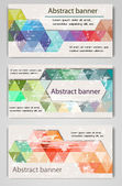 Abstract retro geometric banners — Stock Vector