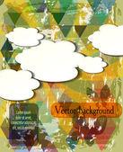 Summer abstract vector poster — Stock Vector