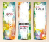 Vintage abstract banners — Stock Vector