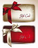 Gift cards with silk bows — Vector de stock